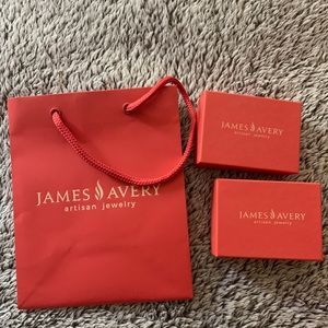 james avery bag and 2 boxes